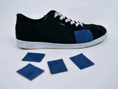Exemple de patch collé sur une chaussure